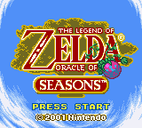 The Legend Of Zelda: Oracle Of Seasons (GBC)   © Nintendo 2001    1/3