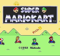 Super Mario Kart (SNES)  © Nintendo 1992   1/3