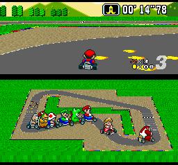 Super Mario Kart (SNES)  © Nintendo 1992   2/3