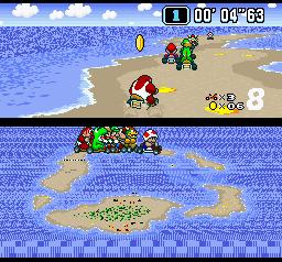 Super Mario Kart (SNES)  © Nintendo 1992   3/3