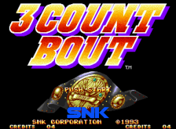 3 Count Bout (MVS)  © SNK 1993   1/5