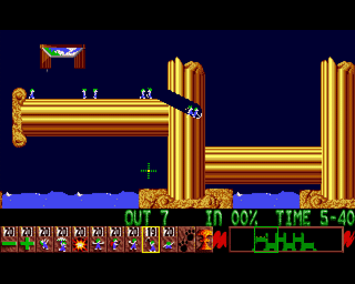 Lemmings (AMI)   © Psygnosis 1991    4/4
