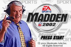 Madden NFL 2002 (GBA)  © EA 2001   1/3