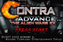 Contra Advance: The Alien Wars EX (GBA)  © Konami 2002   1/3