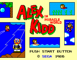Alex Kidd In Miracle World (SMS)   © Sega 1986    1/9