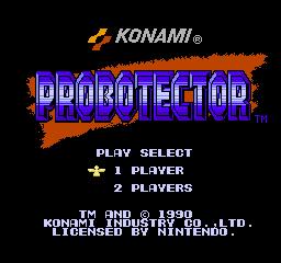 Probotector (NES)  © Konami 1990   1/3