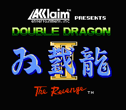 Double Dragon II: The Revenge (NES)   © Acclaim 1989    1/3