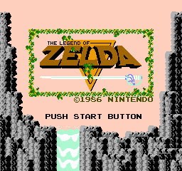 The Legend Of Zelda   © Nintendo 1987   (NES)    1/4