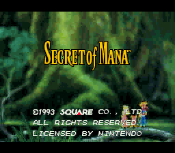 Secret Of Mana (SNES)   © Square 1993    1/8