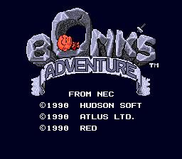 Bonk's Adventure (PCE)  © Hudson 1989   1/2