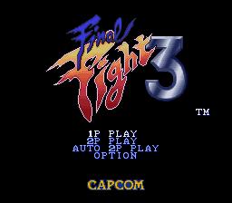 Final Fight 3 (SNES)  © Capcom 1995   1/8