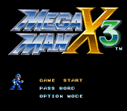 Mega Man X3 (SNES)   © Capcom 1995    1/4