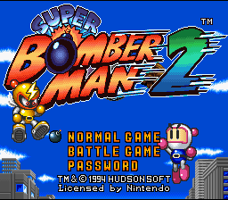 Super Bomberman 2 (SNES)   © Hudson 1994    1/4