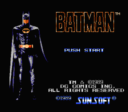 Batman (1989) (NES)   © SunSoft 1989    1/3