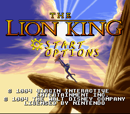 The Lion King (SNES)   © Virgin 1994    1/4