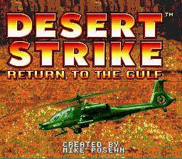 Desert Strike: Return To The Gulf (SNES)  © EA 1992   1/3