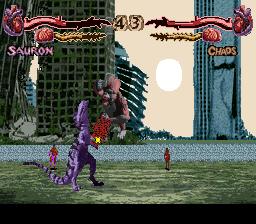 Primal Rage (SNES)  © Time Warner 1995   4/4