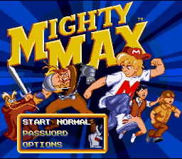 The Adventures Of Mighty Max (SNES)   © Ocean 1994    1/3