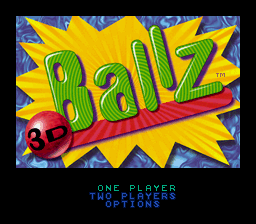 Ballz 3D: The Battle Of The Balls (SNES)   © Accolade 1995    1/3