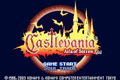 Castlevania: Aria Of Sorrow  © Konami 2003  (GBA)   1/4