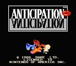 Anticipation (NES)  © Nintendo 1988   1/3