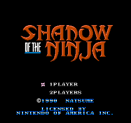 Blue Shadow (NES)   © Natsume 1990    1/3