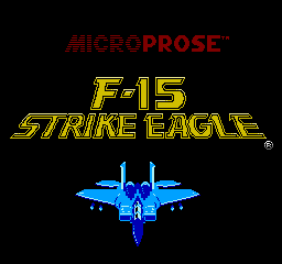 F-15 Strike Eagle (NES)  © MicroProse 1992   1/3