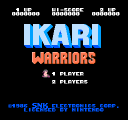 Ikari Warriors (NES)  © SNK 1986   1/3