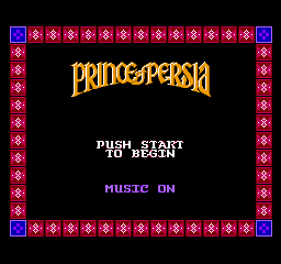 Prince Of Persia (NES)  © Mindscape 1992   1/3