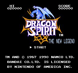 Dragon Spirit: The New Legend (NES)  © Bandai 1989   1/3