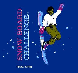 Snowboard Challenge (NES)  © Activision 1990   1/3