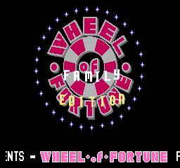 Wheel Of Fortune: Family Edition (NES)  © GameTek 1990   1/3
