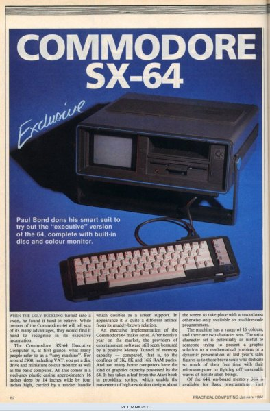 Commodore SX-64 (C64)   © Commodore 1983    19/20