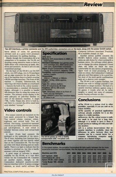Commodore SX-64 (C64)  © Commodore 1983   20/20