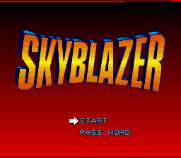 Skyblazer (SNES)  © Sony Imagesoft 1994   1/4