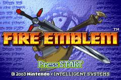 Fire Emblem (GBA)  © Nintendo 2003   1/4
