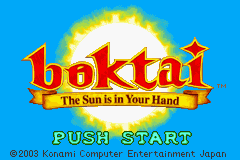 Boktai: The Sun Is In Your Hand (GBA)   © Konami 2003    1/3