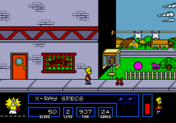 The Simpsons: Bart Vs. The Space Mutants (SMD)  © Flying Edge 1992   3/4