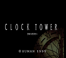 Clock Tower: The First Fear (SNES)  © Human 1995   1/3