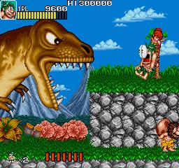 Joe & Mac: Caveman Ninja (ARC)  © Data East 1991   2/6