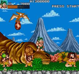 Joe & Mac: Caveman Ninja (ARC)  © Data East 1991   3/6