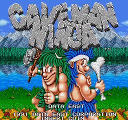 Joe & Mac: Caveman Ninja (ARC)  © Data East 1991   1/6