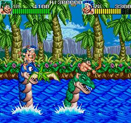 Joe & Mac: Caveman Ninja (ARC)  © Data East 1991   4/6