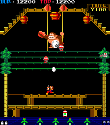 Donkey Kong 3 (ARC)  © Nintendo 1984   2/4
