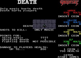 Gauntlet (ARC)  © Atari Games 1985   6/6