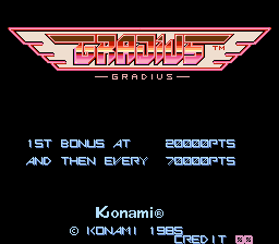 Gradius (ARC)  © Konami 1985   1/5