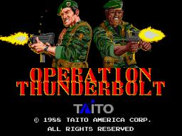 Operation Thunderbolt (ARC)  © Taito 1988   1/3