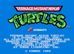 Teenage Mutant Ninja Turtles: The Arcade Game   © Konami 1989   (ARC)    1/6
