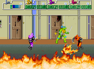 Teenage Mutant Ninja Turtles: The Arcade Game   © Konami 1989   (ARC)    3/6