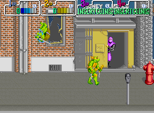 Teenage Mutant Ninja Turtles: The Arcade Game   © Konami 1989   (ARC)    5/6